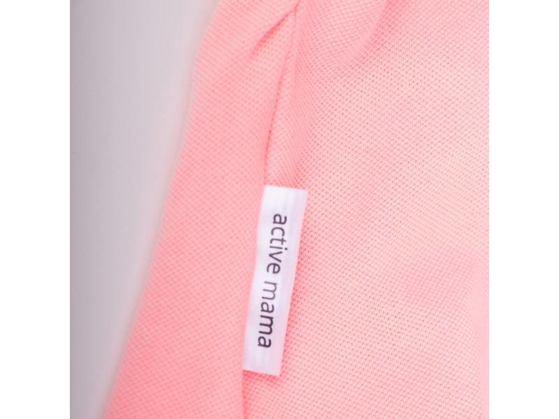 Active Mama Polo shirt maternity coral
