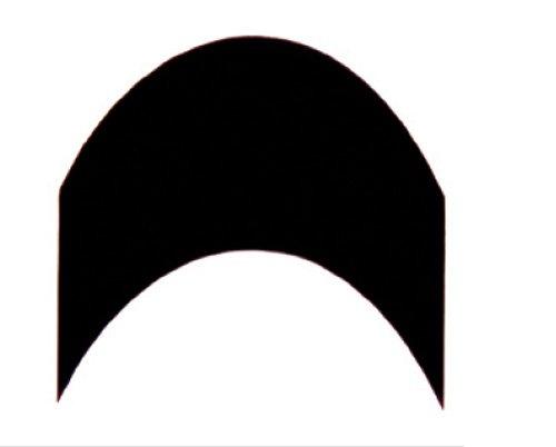 French Schablone schwarz, K2, 96 Stück