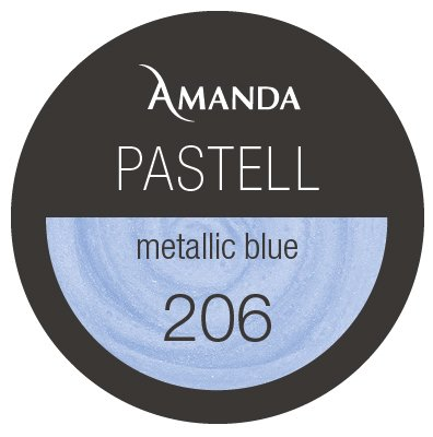 206 / Pastell Farbgel metallic blue