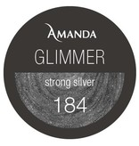 184 / Glimmer Farbgel strong silver