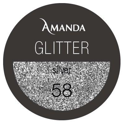 58 / Glitter Farbgel silver 5g