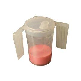 Drinkbeker met deksel en handvaten