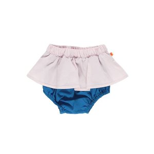 Tinycottons color block bloomer pale pink/blue