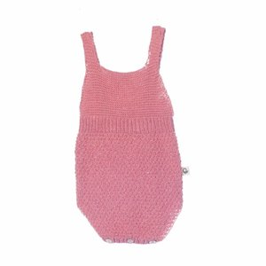 Piupiuchick knitted romper coral