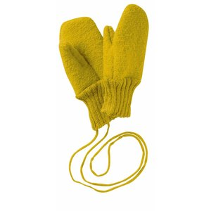 Disana mittens boiled wool curry