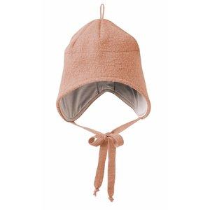 Disana hat boiled wool rose