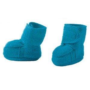 Disana baby booties blue