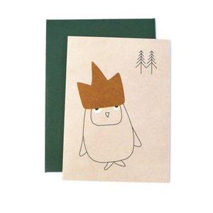 Ted & Tone carte 'Birthday owl'