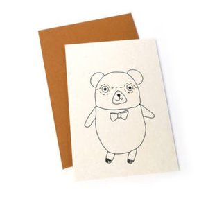 Ted & Tone card 'Lennon bear'