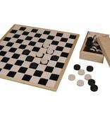 Groot houten dambord