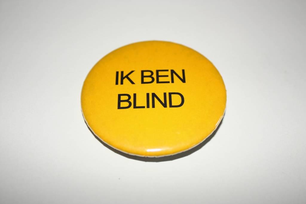 Button Ik ben blind of slechtziend