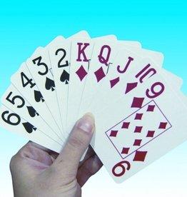 Speelkaarten grote opdruk
