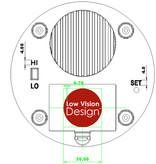 Low Vision Design Nederlandssprekende drukknopklok