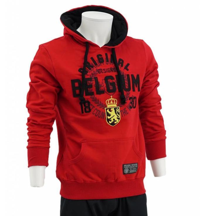 Red hoodie Belgium