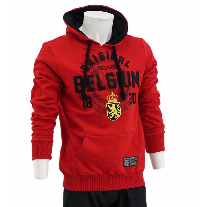 Rode hoodie Belgium
