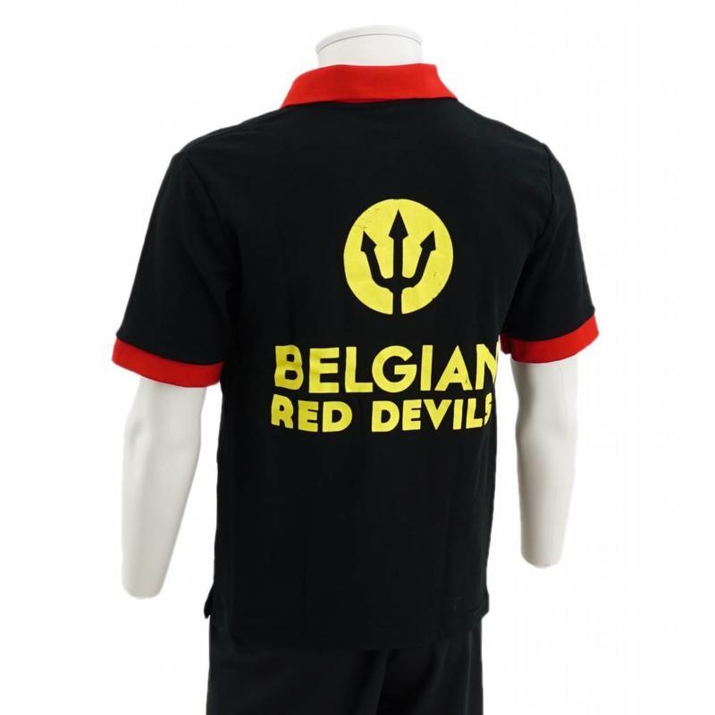 Black Belgian Red Devil Polo