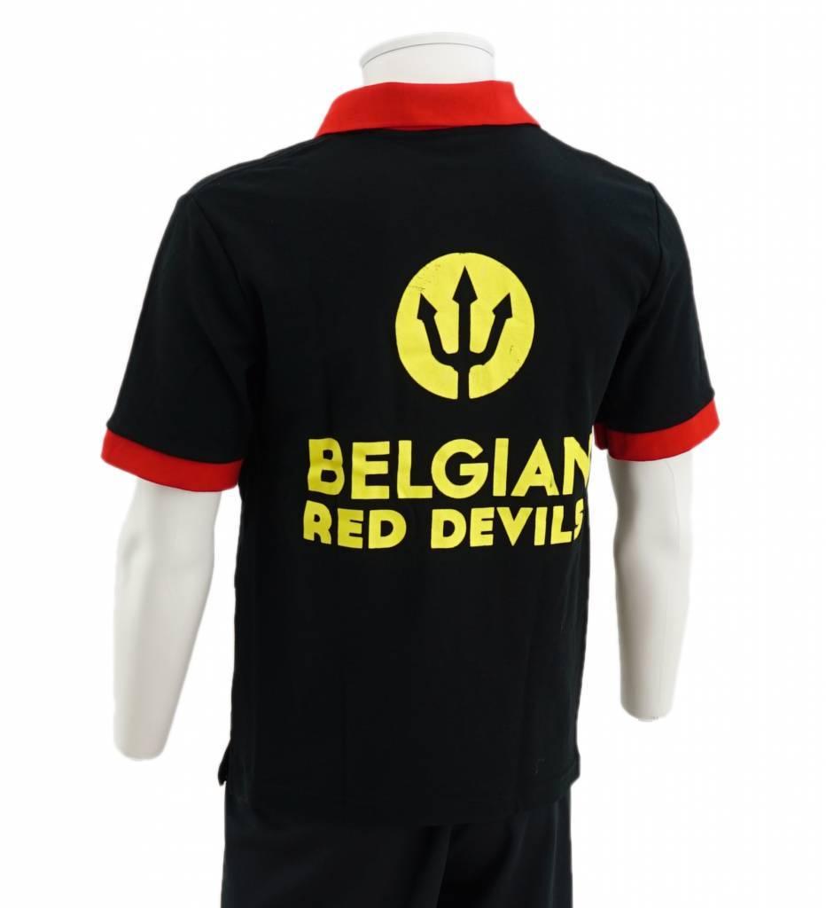 Polo noir Diables Rouges