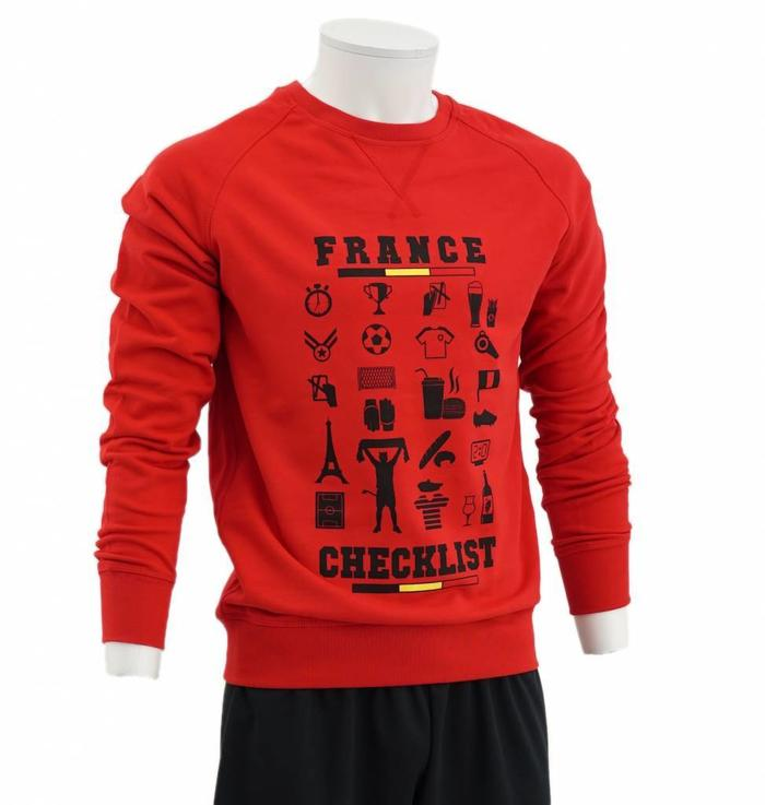 Rode sweatshirt France