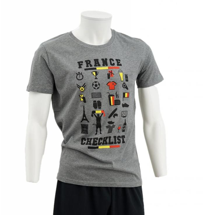 Grijze t-shirt France