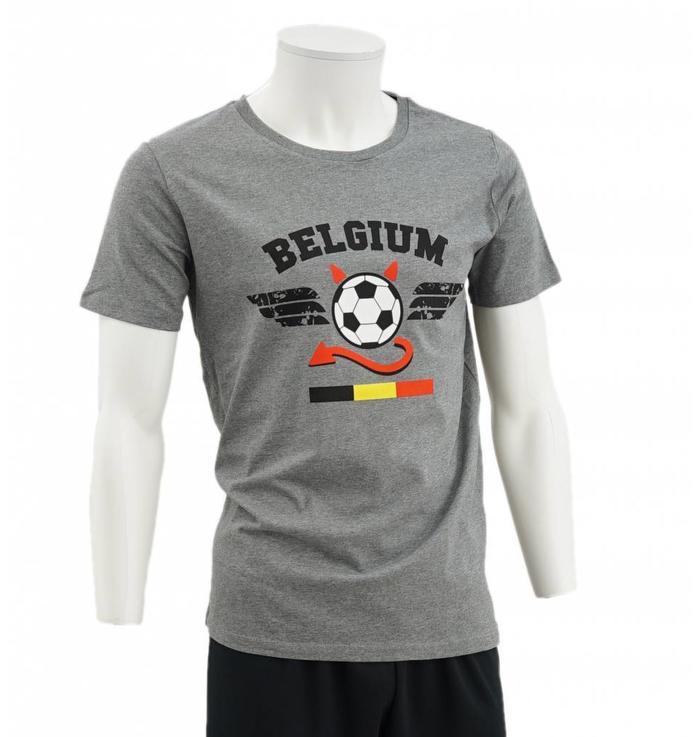 Grijze Belgium t-shirt