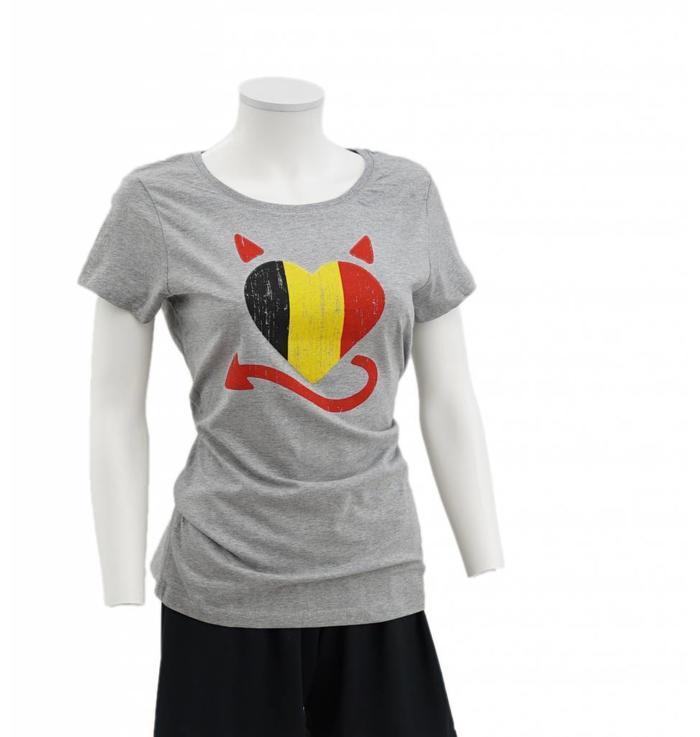 T-shirt Belgisch hart - XL