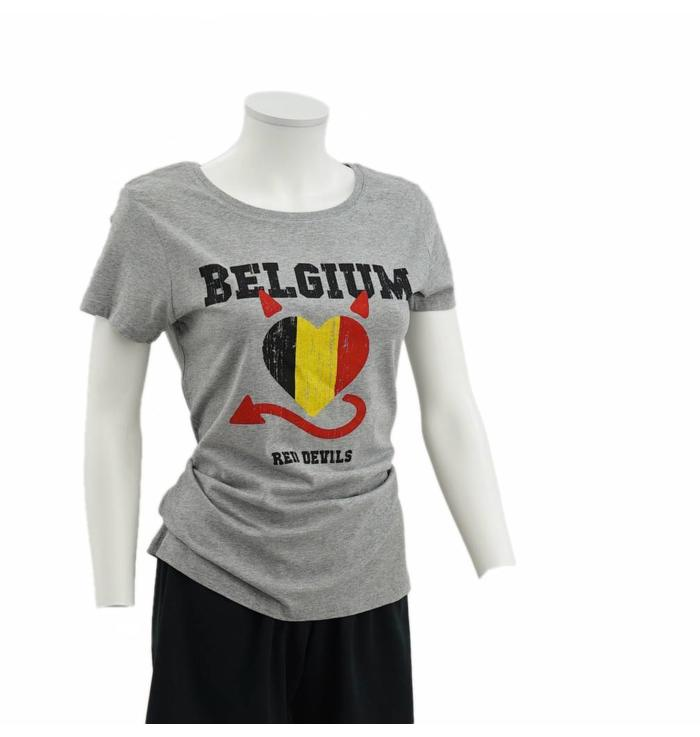 T-shirt gris Red Devils femmes