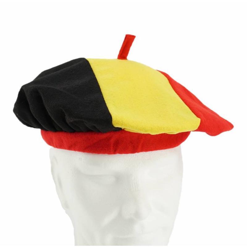 Béret tricolor belge