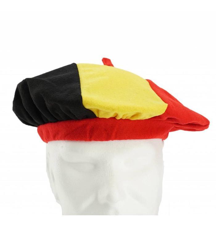 Beret Belgian tricolor