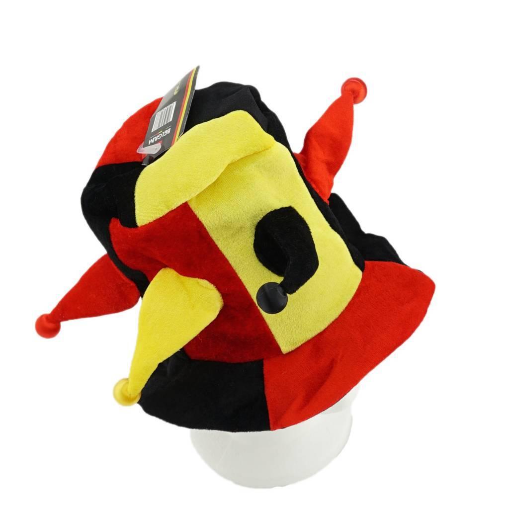 Chapeau farceur noir jaune rouge