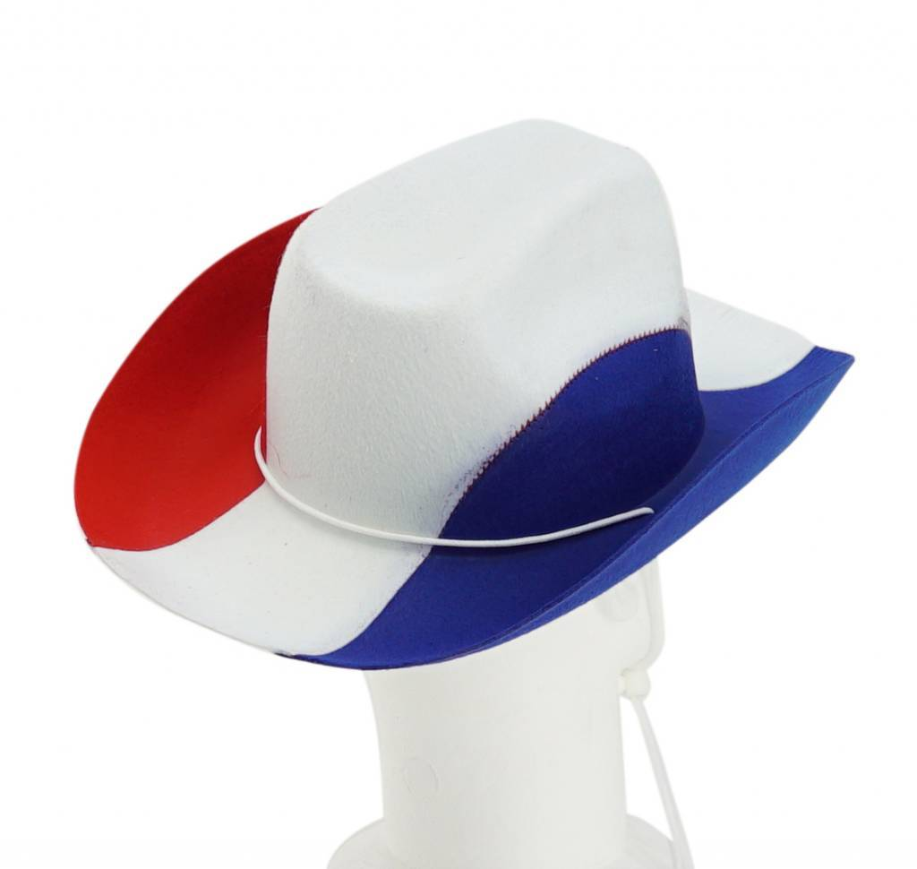 Cowboy hat blue-white-red