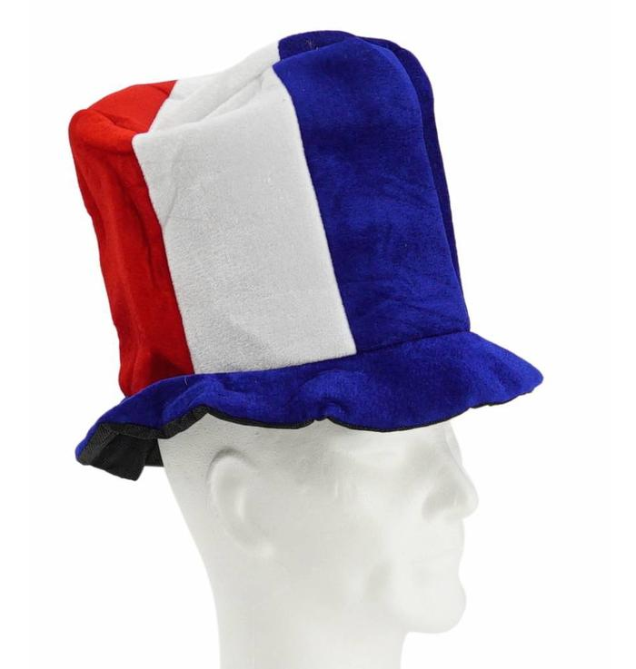 Tall hat blue-white-red