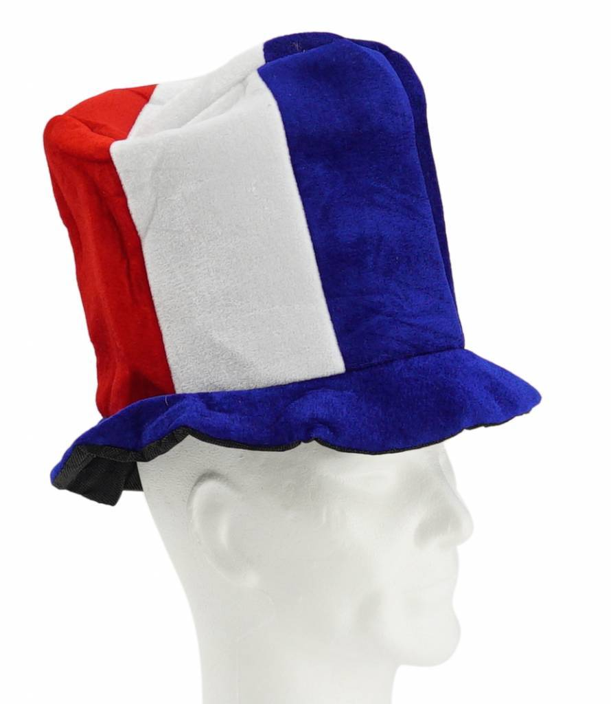 Chapeau haut bleu-blanc-rouge