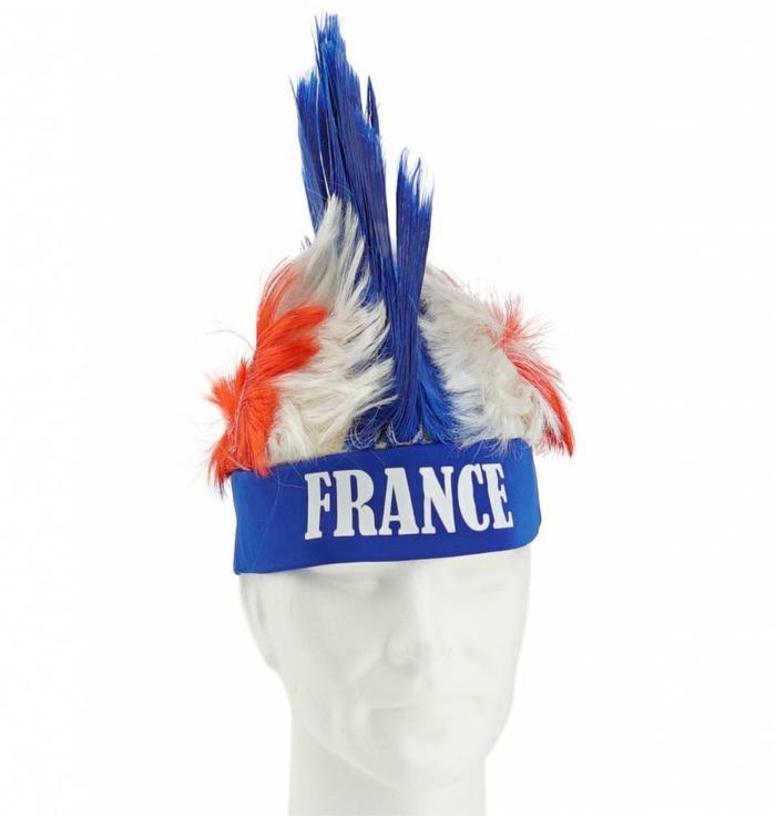 Pruik met hanenkam Frankrijk