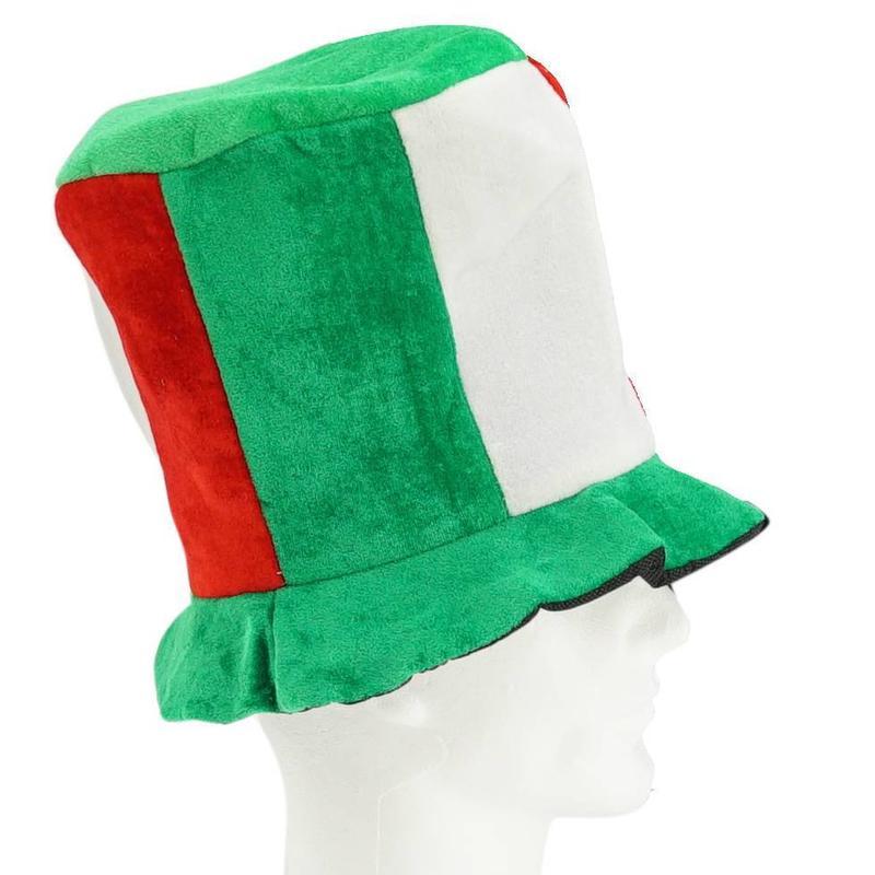 Chapeau haut vert-blanc-rouge