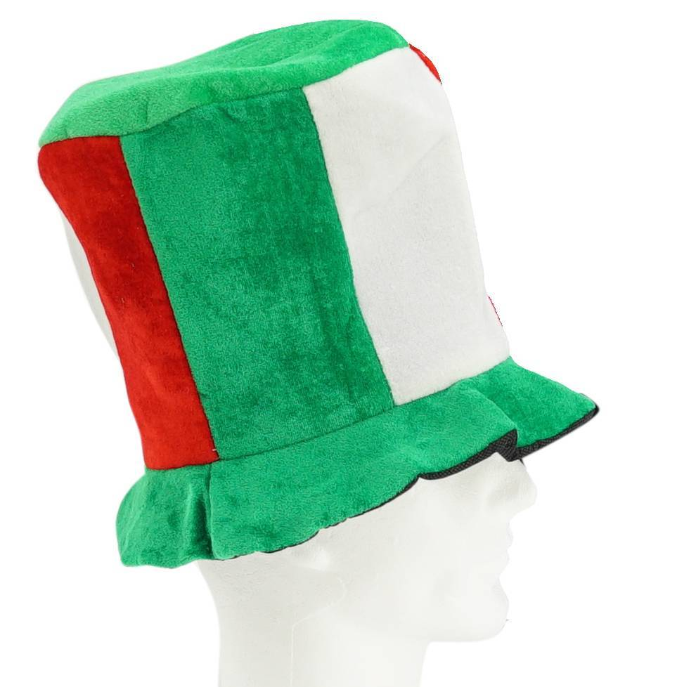 Tall hat green-white-red