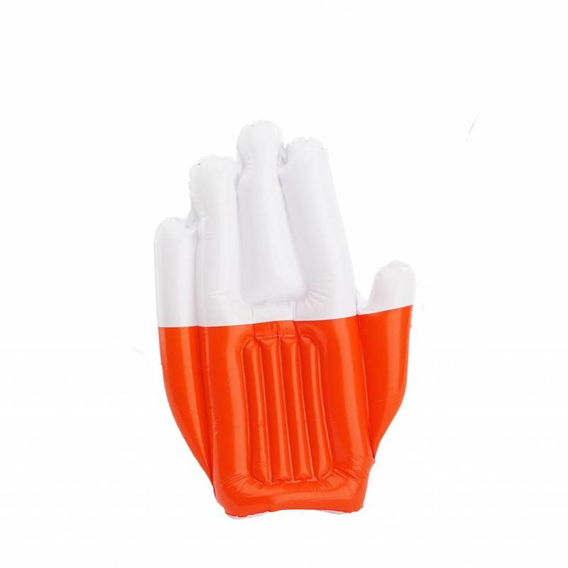 Inflatable hand red-white
