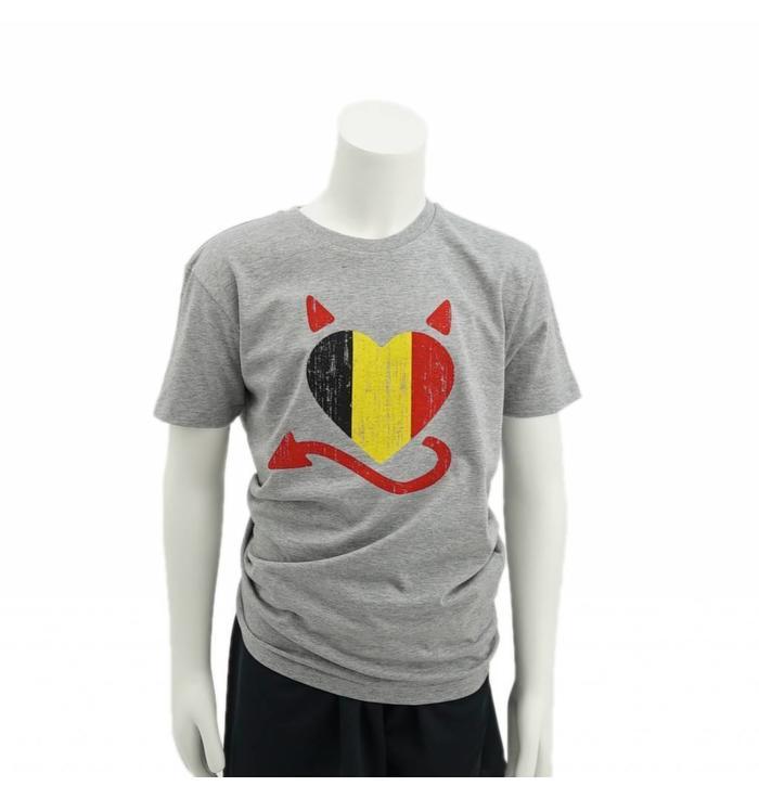Belgisch hart T-shirt kids - 9/11jaar