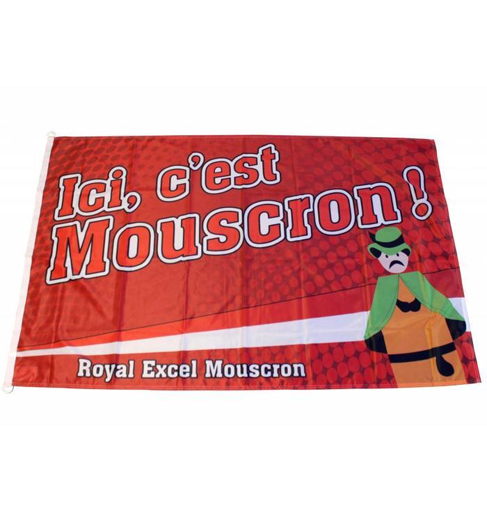 "Drapeau ""Ici c'est Mouscron"""
