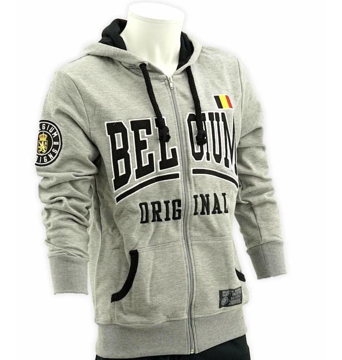 Grijze hoodie met rits - XXXL