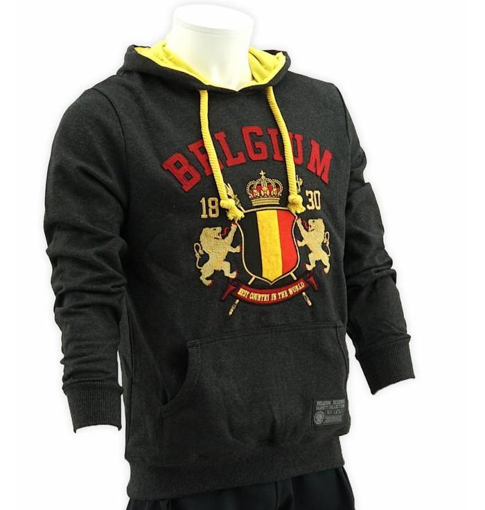 Grijze hoodie Belgium - XXXL