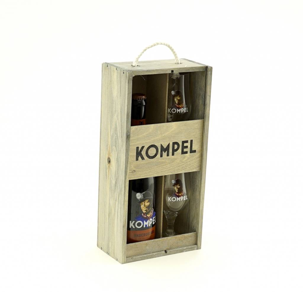 Gift package Ondergronds 75cl + 2 glasses
