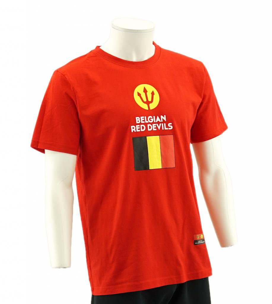 t shirt belgian red devils drapeau