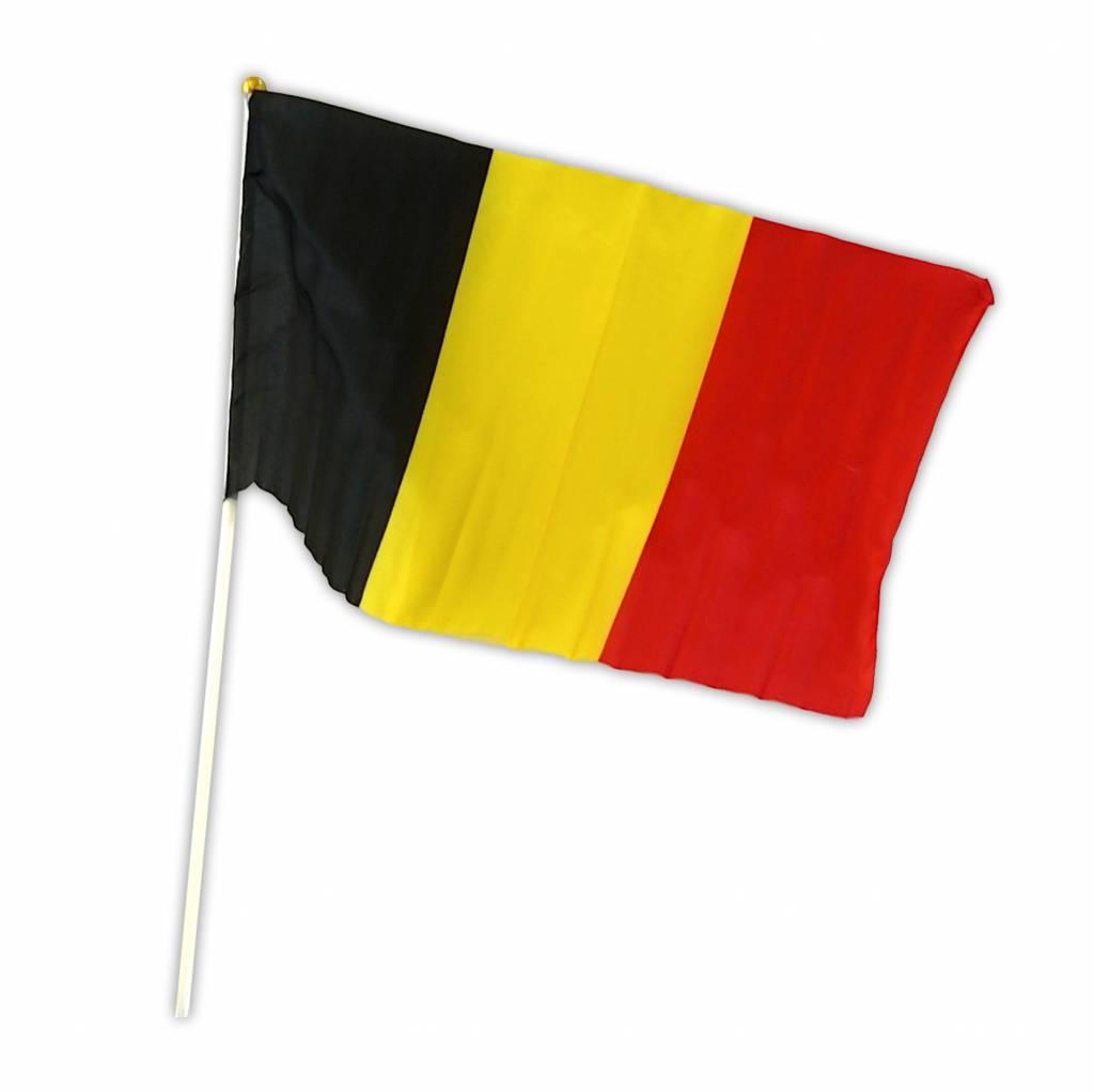 Vlag België op stok 30 x 45cm