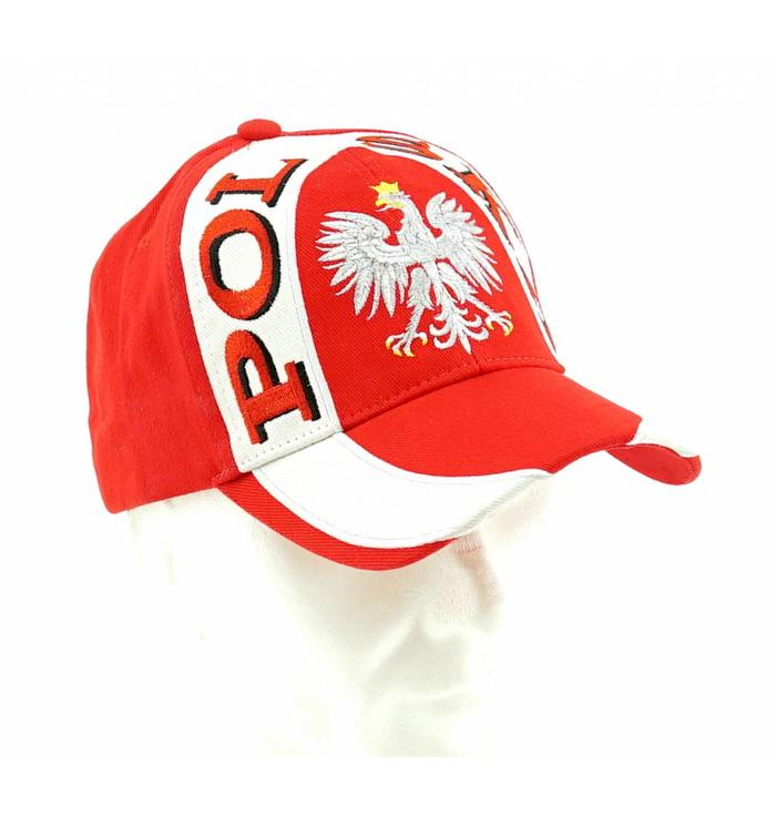 Cap Poland with white stripe