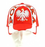 Cap Poland with white stripe