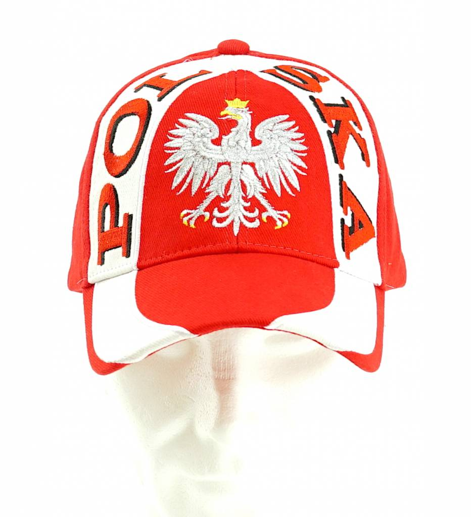 Casquette Pologne avec bande blanche