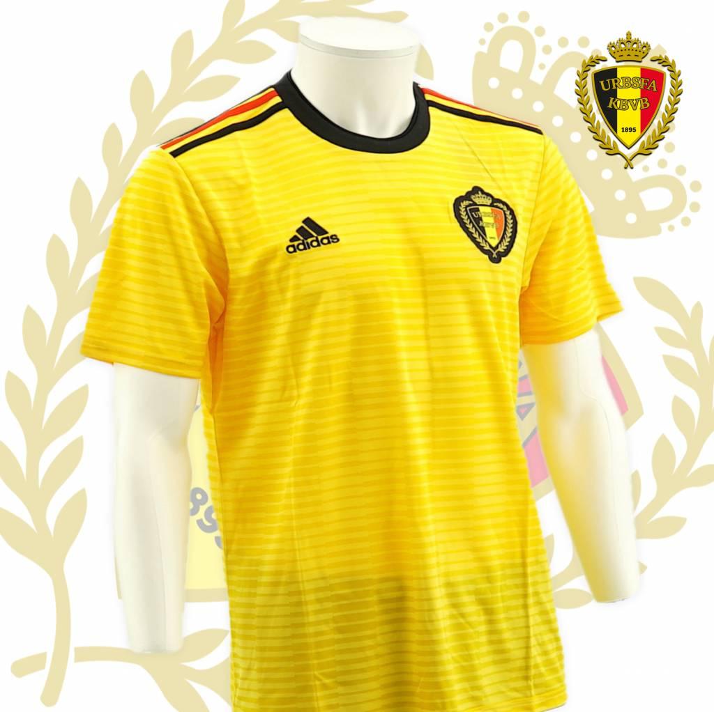 Officiële Shirt Rode Duivels WK 2018 - (Geel truitje uitmatch)