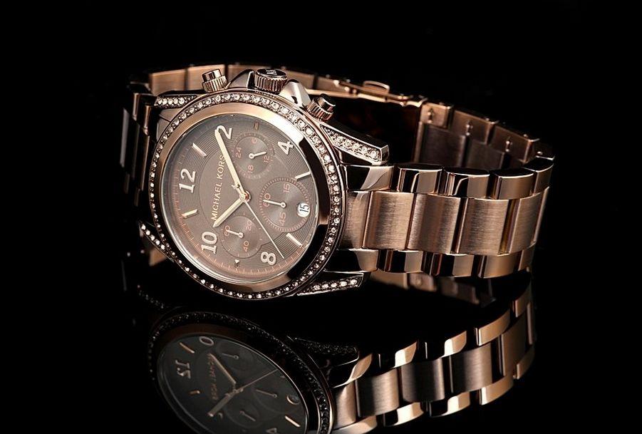 michael kors chronograph brown stainless steel men s watch mk8217. Black Bedroom Furniture Sets. Home Design Ideas