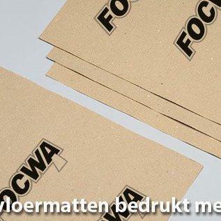 @Mask Papieren vloermatten bedrukt met eigen logo en/of ontwerp.