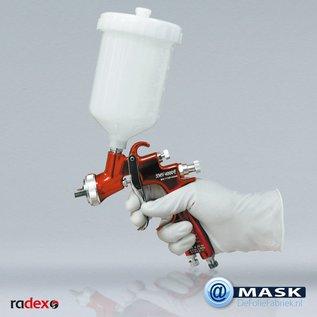 Radex Hoge kwaliteit latex wegwerphandschoenen, verpakt per 100 stuks.